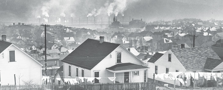 smog in Donora, PA. 70 years ago