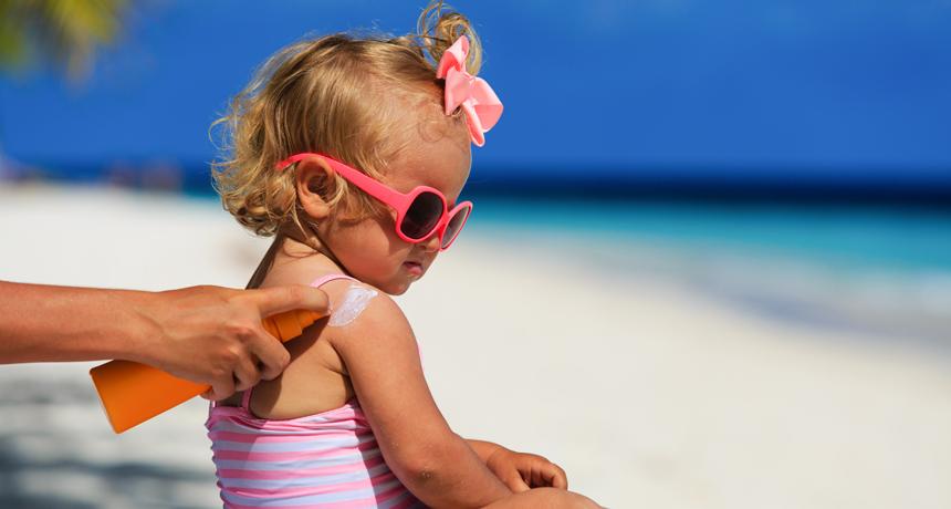 toddler on a sunny beach