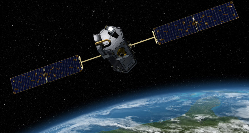 illustration of Orbiting Carbon Observatory-2