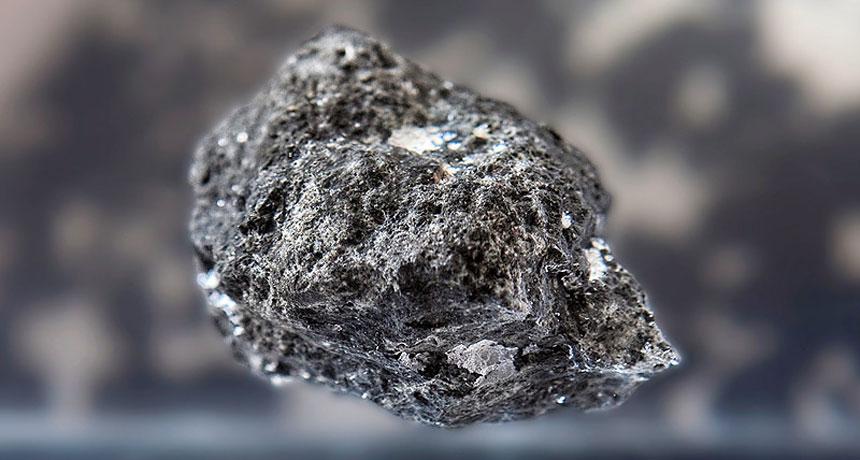 a moon rock