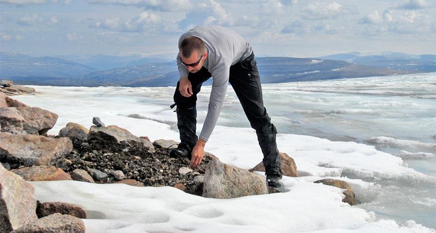 Refsnider on Baffin Island