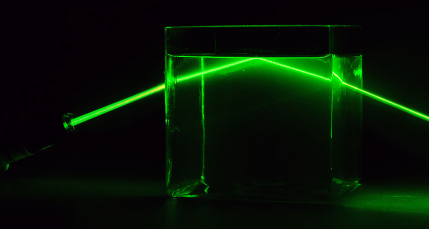 laser light in water