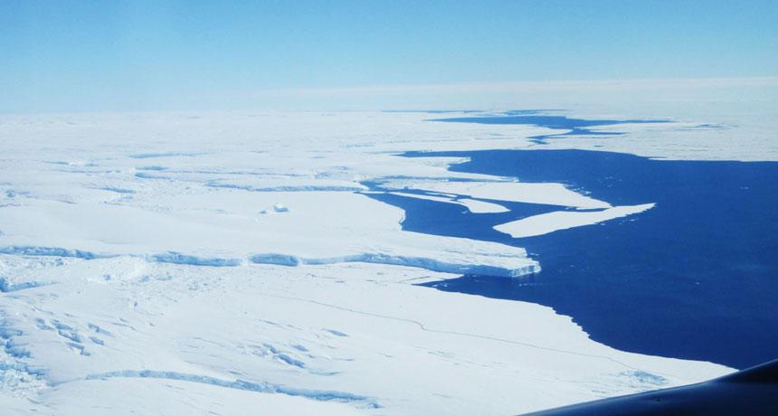 the Totten ice shelf