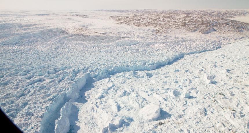 Jakobshavn Glacier in western Greenland