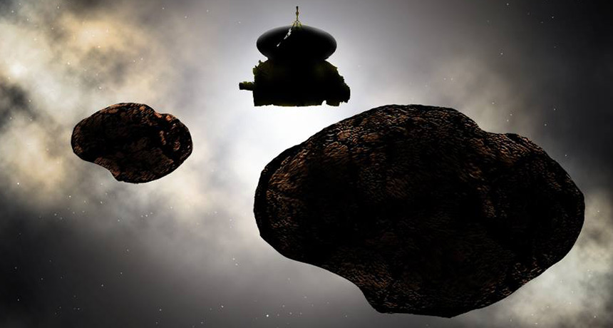 Illustration of New Horizons' next target