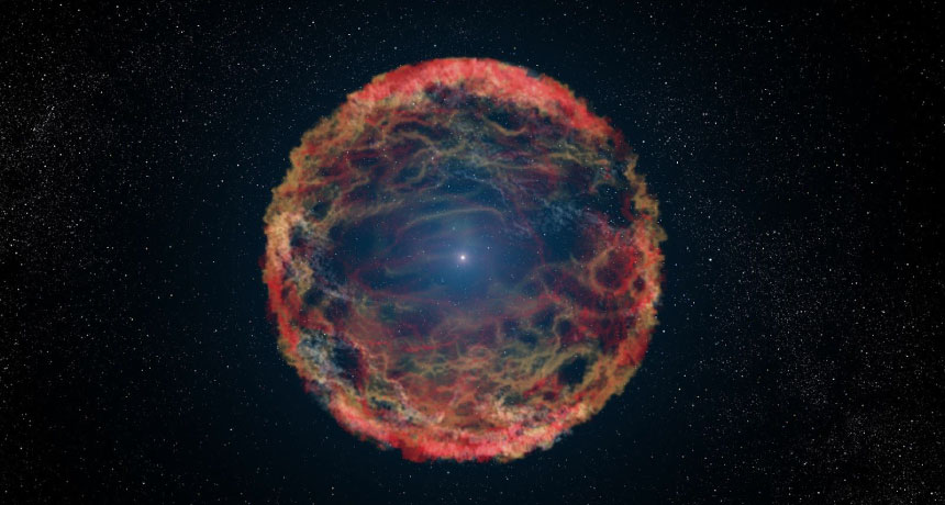 illustration of a supernova