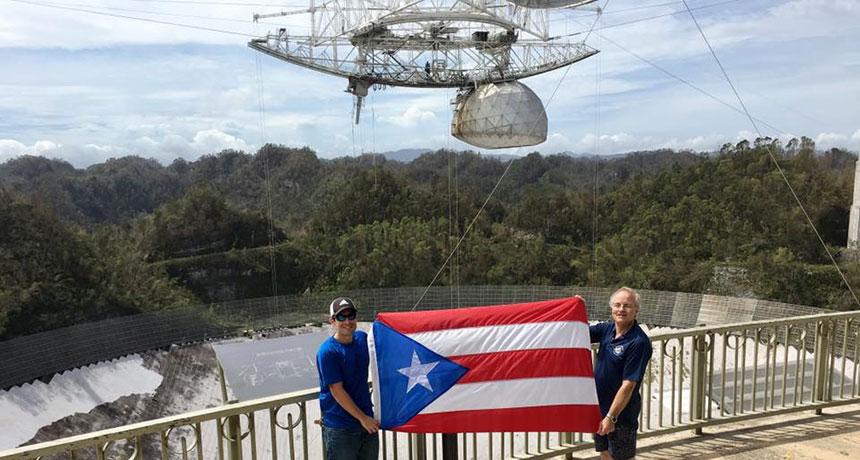 Arecibo observatory and radio telescope