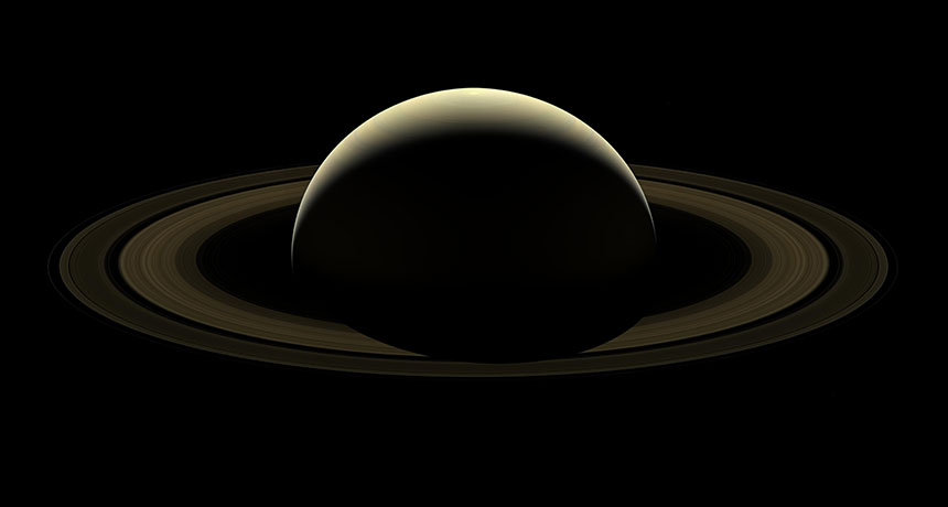 Cassini mosaic of Saturn