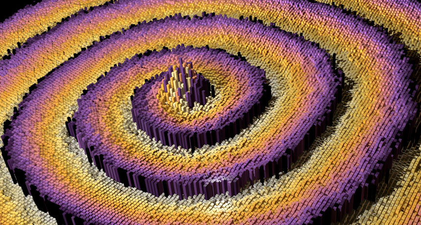 3-D simulation of a spiral wave