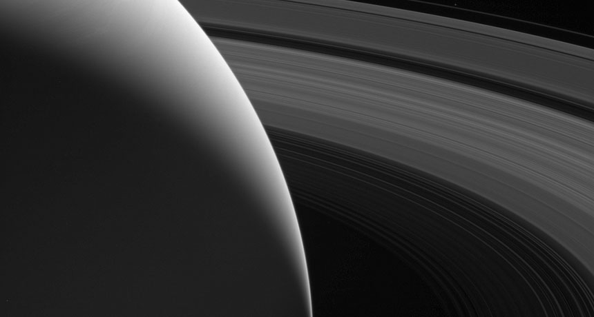 Saturn's rings again