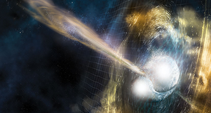 illustration of neutron star collision