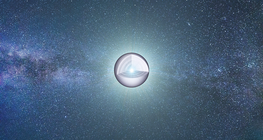 illustration of inner structure of a white dwarf