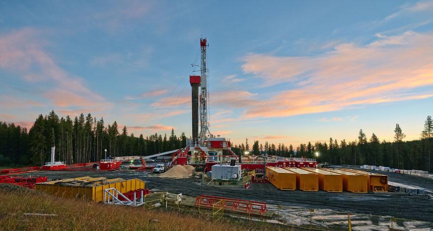 fracked well