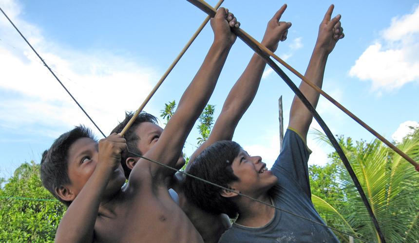 Matses hunter-gatherer boys