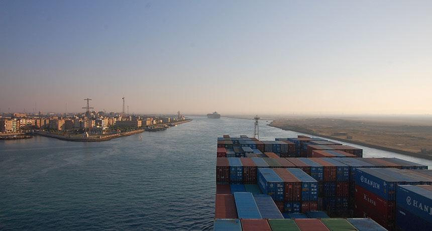 Suez shipping canal