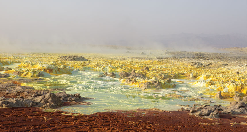 hydrothermal fields in Ethiopia
