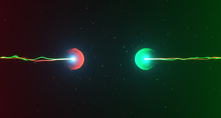 illustration of two atoms