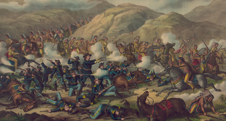 Battle of Little Big Horn painting