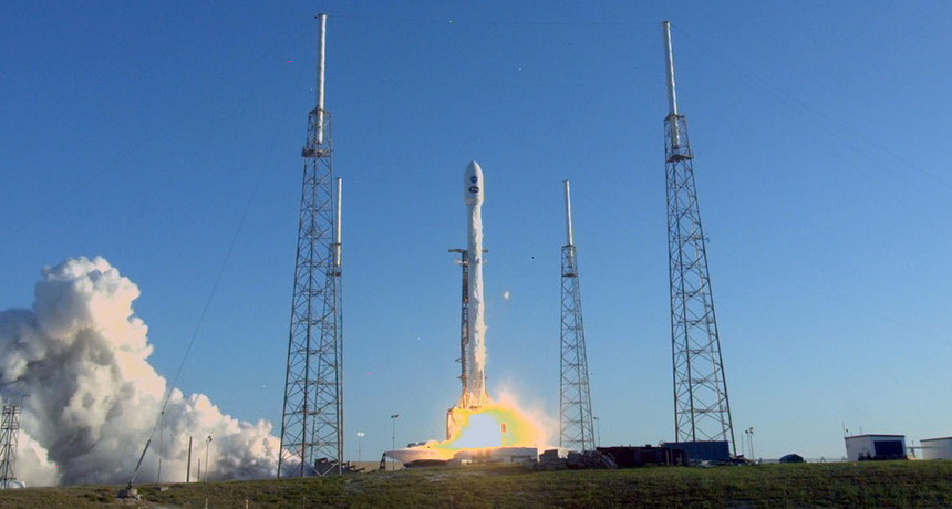 TESS launch on Falcon 9 rocket