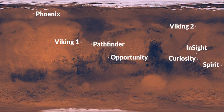 planned InSight landing location