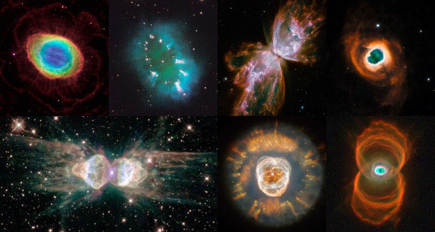 seven planetary nebulae
