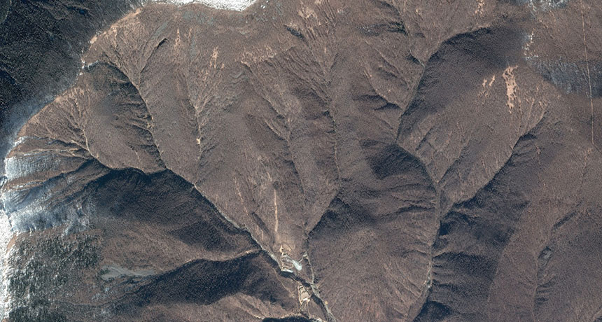 satellite image of North Korea's nuclear test site