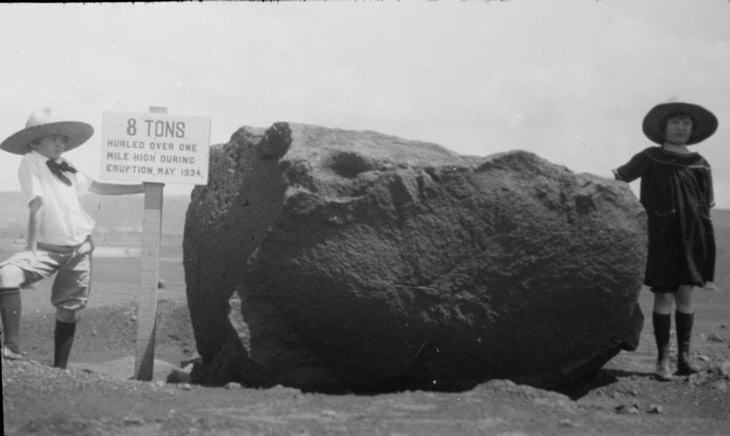 Kilauea volcanic boulder