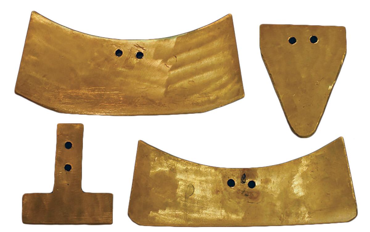 four bronze pendulum saw blades