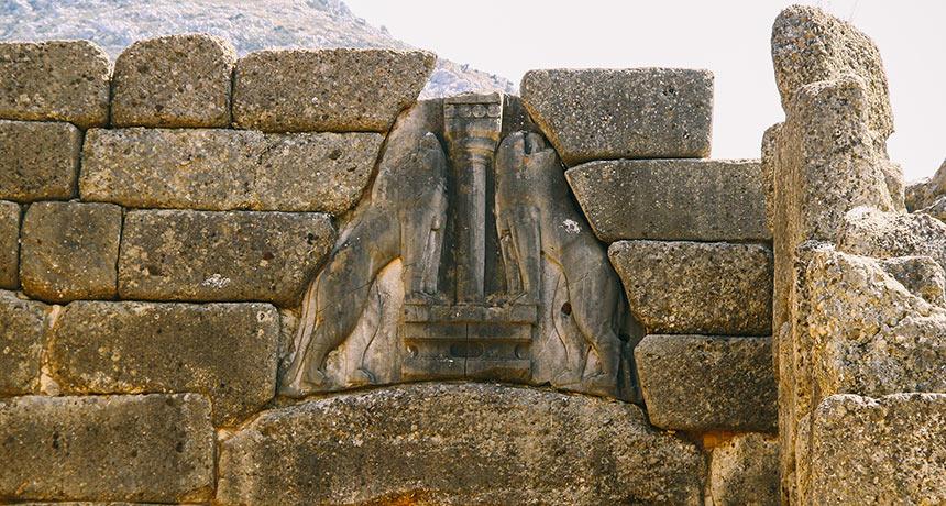 Lion Gate sculpture