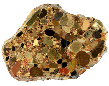 cross section of a conglomerate