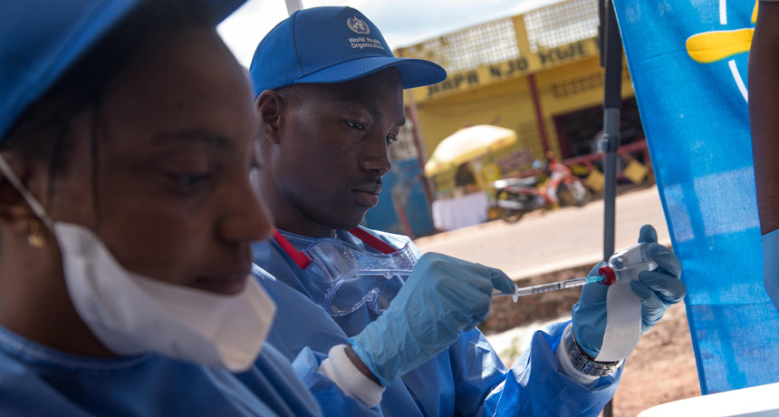Ebola nurses in Congo