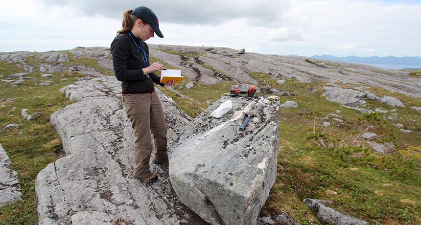 Geologist Alia Lesnek