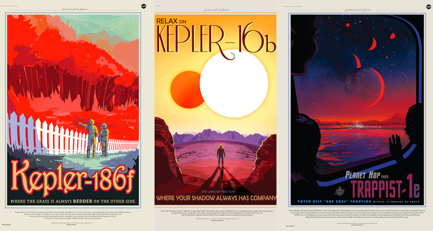 exoplanet travel posters