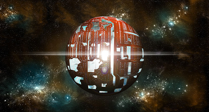 an illustration of a Dyson sphere