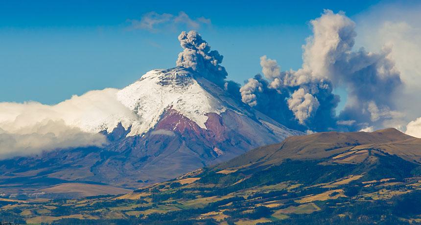 Cotopaxi, volcano in Ecuador