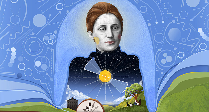 illustration of Emmy Noether