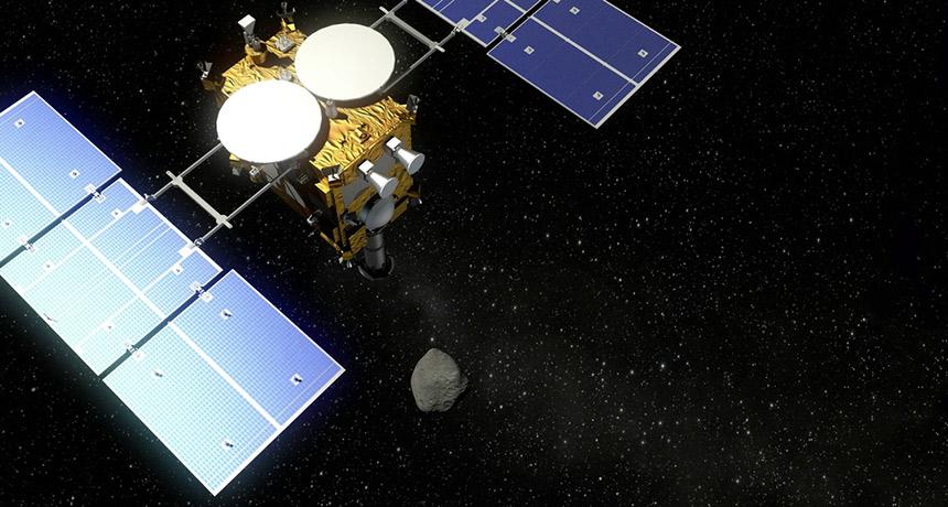 Hayabusa2 spacecraft illustration
