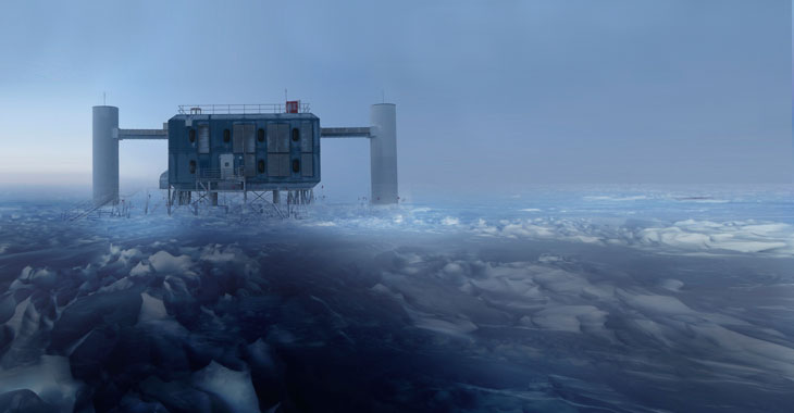 A photo of the particle detector IceCube