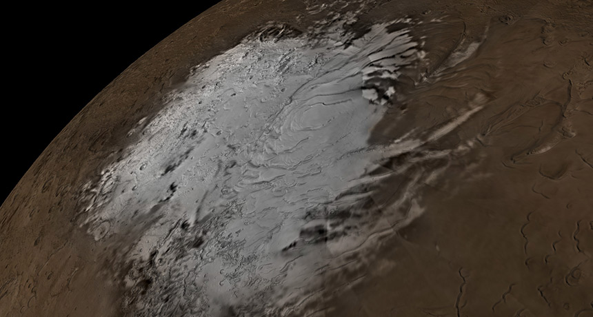 Mars' southern polar ice sheets