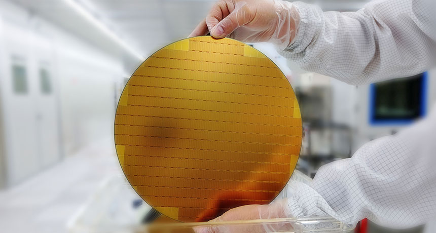 large circular semiconductor