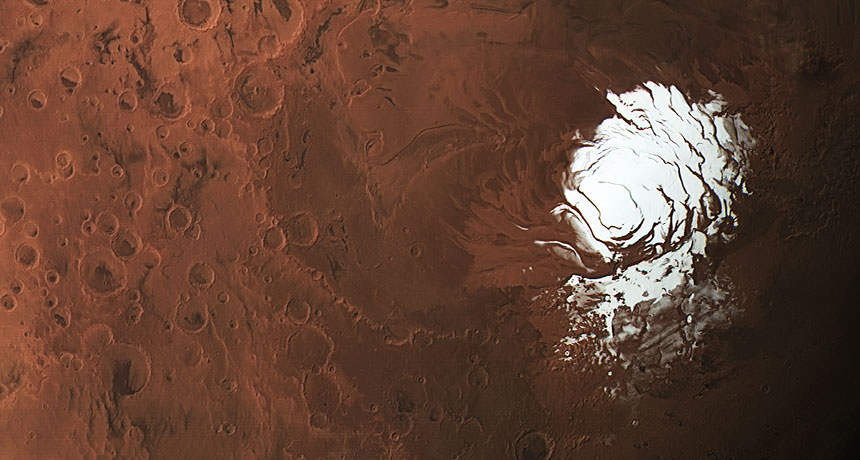 Martian south pole