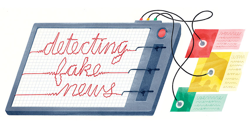 fake news detector illustration