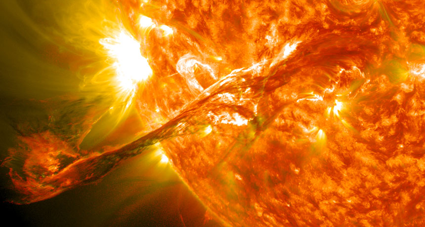 solar flare illustration