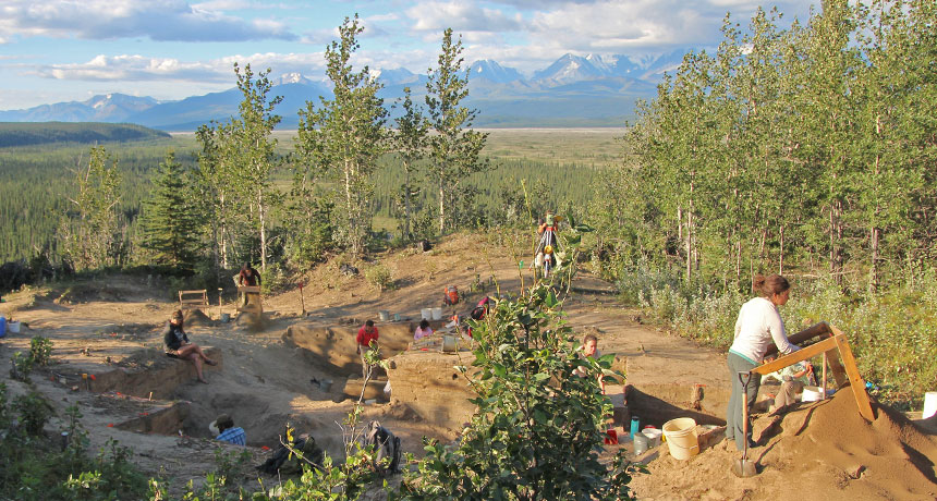 Alaskan site excavation