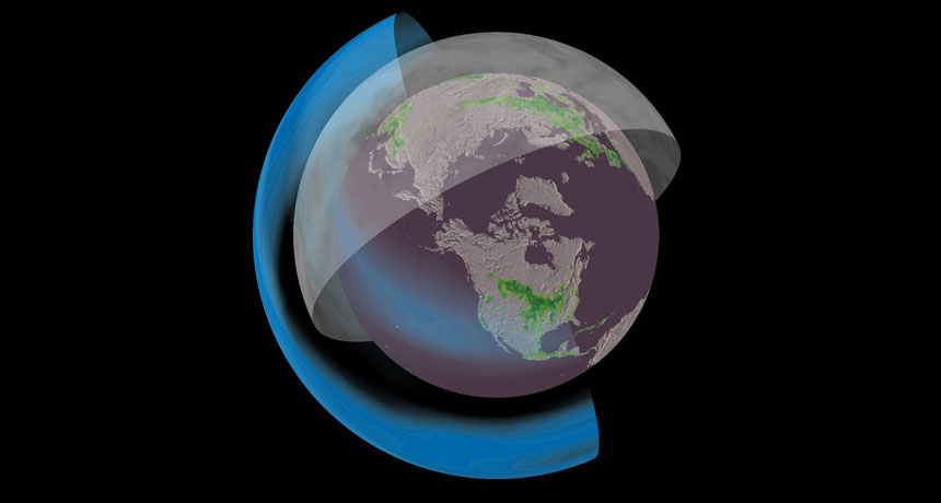 illustration of global dimming