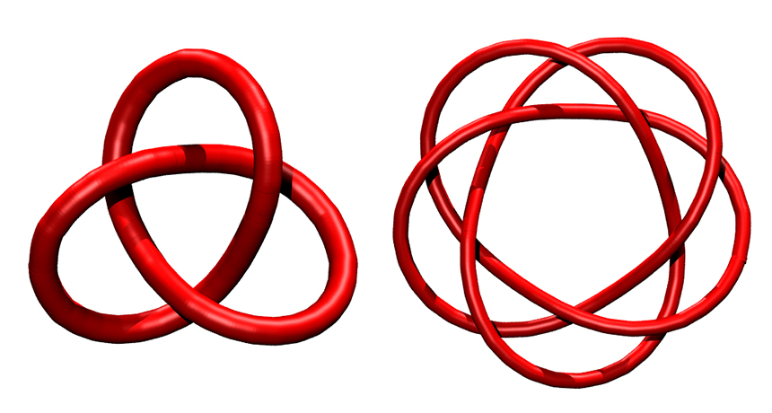 illustrations of molecular knots