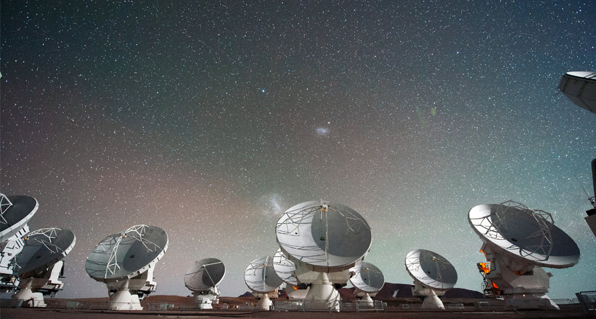 photo of the Atacama Large Millimeter/submillimeter Array