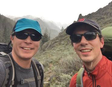 a photo of researchers Jesse Barber and Brian Leavell