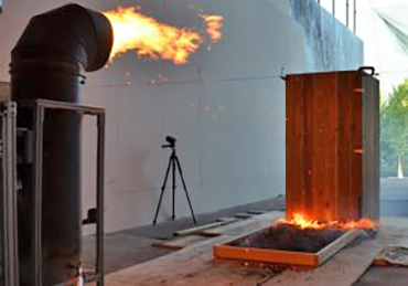 """A tool called the """"dragon"""" shoots a shower of embers for researchers to study"""