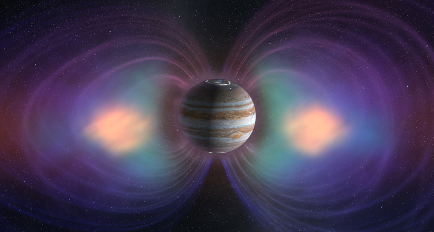 Jupiter's magnetic field illustration
